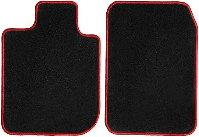 GGBAILEY D3271A-F1A-BLK/_BR Custom Fit Car Mats for 2002 2004 2003 2005 2006 Hummer H1 Black with Red Edging Driver /& Passenger Floor
