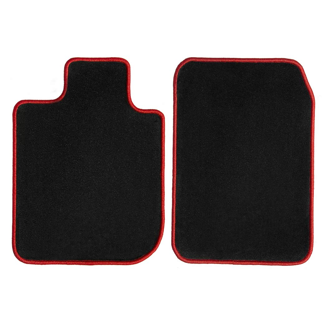 1996 Dodge Dakota Club Cab Black with Red Edging Driver /& Passenger 1994 1991 1995 1993 GGBAILEY D3471A-F1A-BLK/_BR Custom Fit Automotive Carpet Floor Mats for 1990 1992