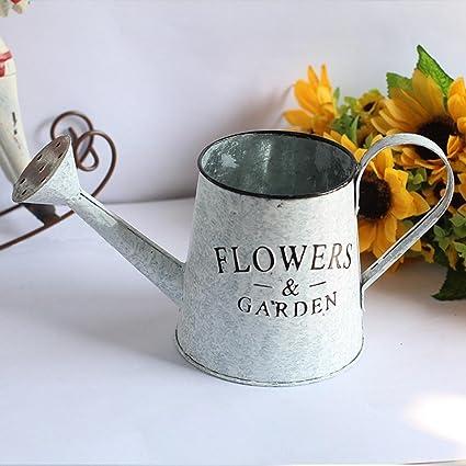 Flower205 2PCS Florero de Hierro de la vendimia Balcón Hierro Antiguo Arreglo de Flores de América