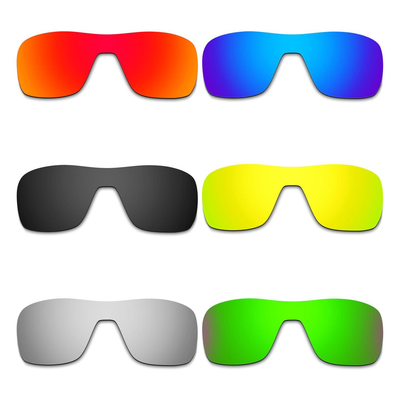 Hkuco 交換用レンズ For Oakley Turbine Rotor Sunglasses  レッド/ブルー/ブラック/ゴールデン/チタンカラー/グリーン B071VVFT13