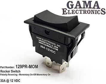 [TVPR_3874]  Amazon.com: GAMA Electronics 30 Amp Rocker Switch Polarity Reverse DC Motor  Control: Automotive | 12 Volt Reverse Polarity Toggle Switch Wiring Diagram |  | Amazon.com