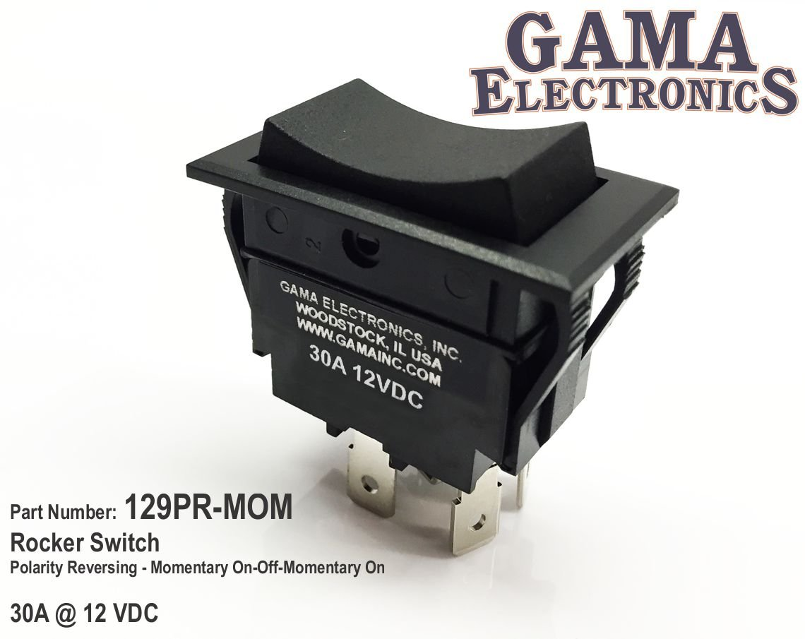 Amazon.com: GAMA Electronics 30 Amp Rocker Switch Polarity Reverse ...