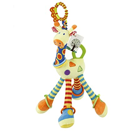 Juguete Jirafa Colgantes Sonajeros Bebes para cochecitos,Juguetes de desarrollo de inteligencia de bebé Cuna Cochecito