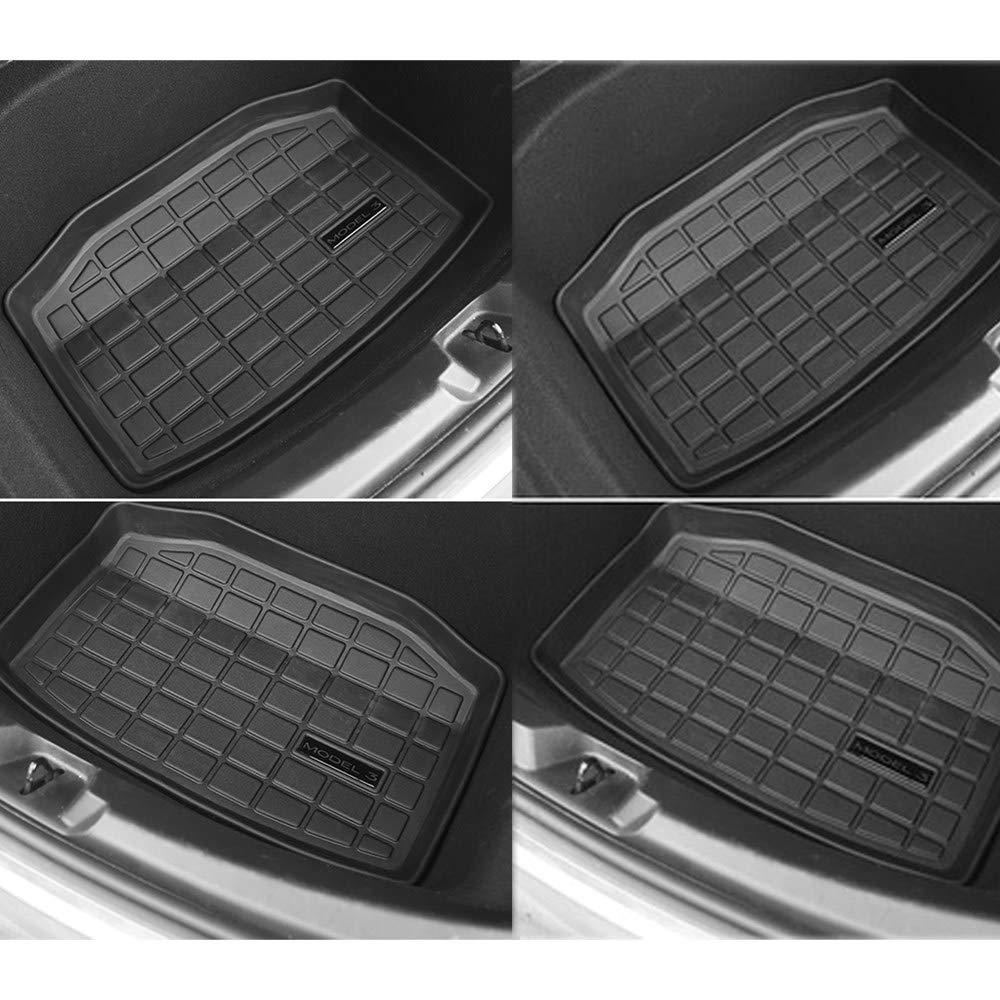 Alfombrilla De Goma Para Maletero De Coche Compatible Con Tesla Model 3,Con Superficie Anti-Deslizamiento Resistente,100/% Goma Inodora,Resistente A Los Ara/ñAzos,All-inclusive(3pieces)-2017