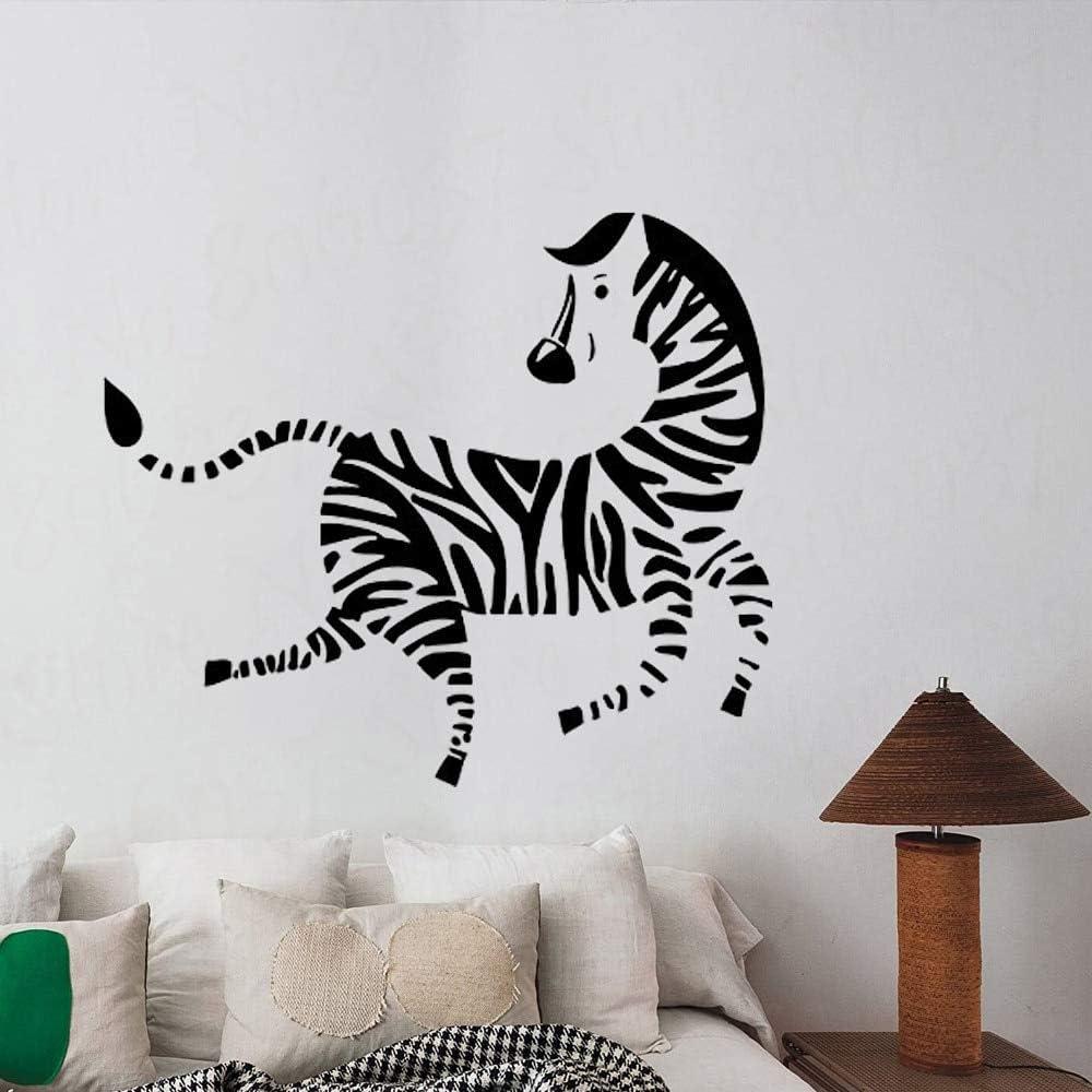 yaofale Saltar Cebra hogar Vinilo decoración móvil jardín de Infantes Dormitorio Mural Familia Sala de Estar Cartel