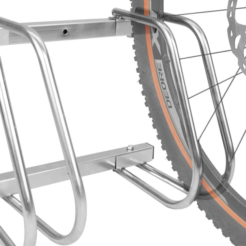 Primematik Râtelier 6 Vélos Système Range Vélo Support Pour Bicyclette En Acier Fixation Sol Ou Mur