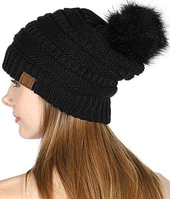 Wool knit beanie women Dusty mint slouch winter hat