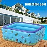 ASAB Piscina inflable grande para familia | para niños y adultos | con LED | para fiestas de jardín, LED Pool: Amazon.es: Hogar