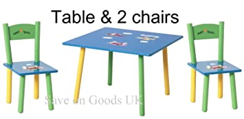 Kinder Tisch Stuhl set bunt kids kleiner Tisch Stühle: Amazon.de ...