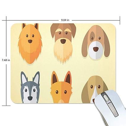 2657880890cc Amazon.com : Mouse Pad Dogs Sets Non-Slip Rubber Base Mousepad for ...
