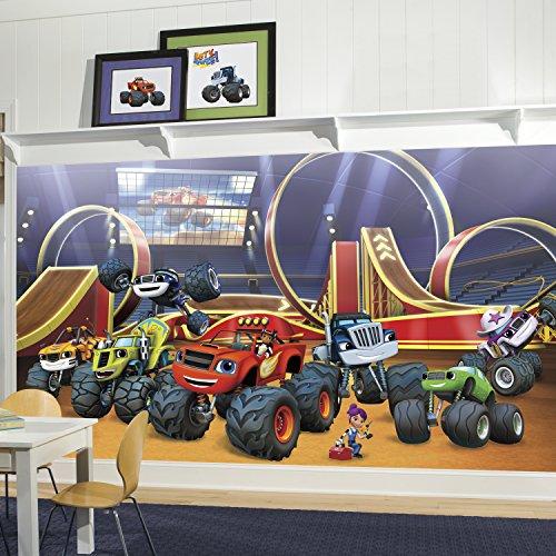 Chair Rail Mural - RoomMates JL1373M Blaze Xl Chair Rail Prepasted Mural 6' x 10.5' - Ultra-Strippable