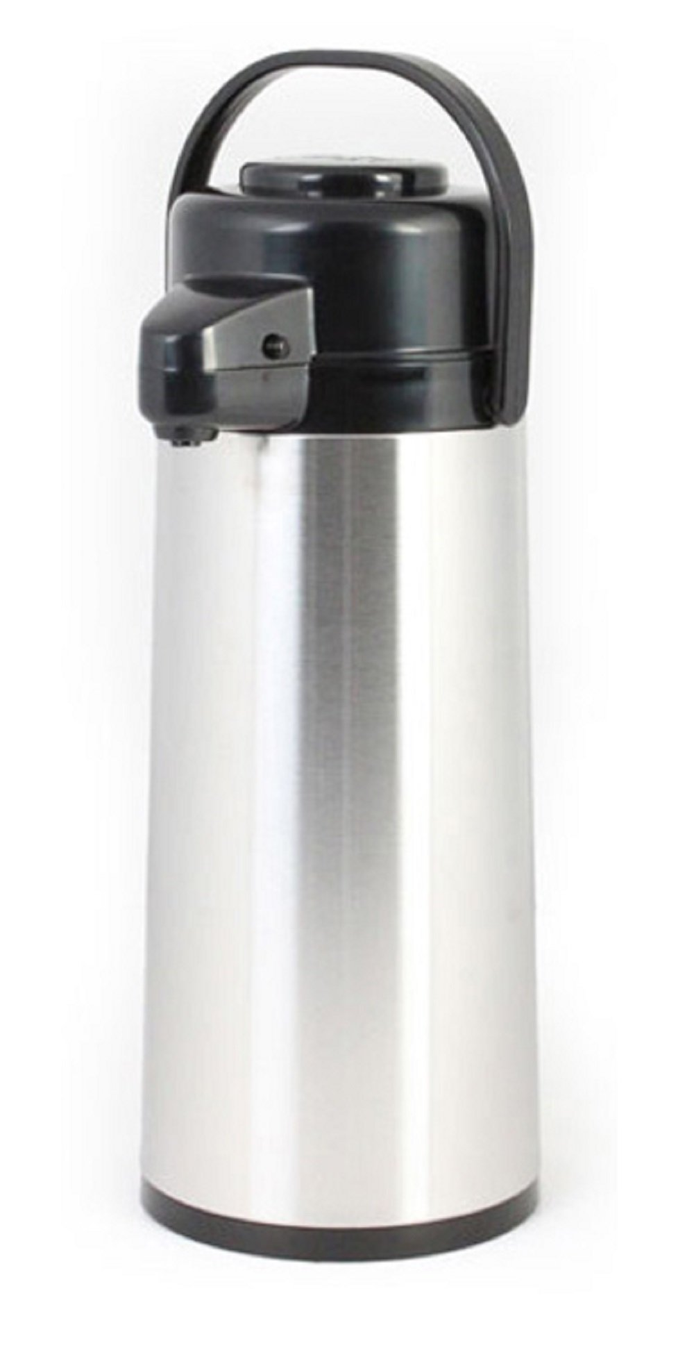 Thunder Group ASPG022, 2.5 lt / 84-Ounce Glass Lined Airpot, Hot Coffee Dispenser, Decaf Push Button Vacuum Server