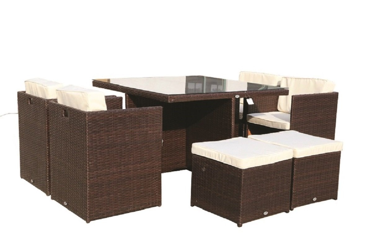 Salone-negozio-online Juego Cubo Mesa con 8 sillas 4 ...