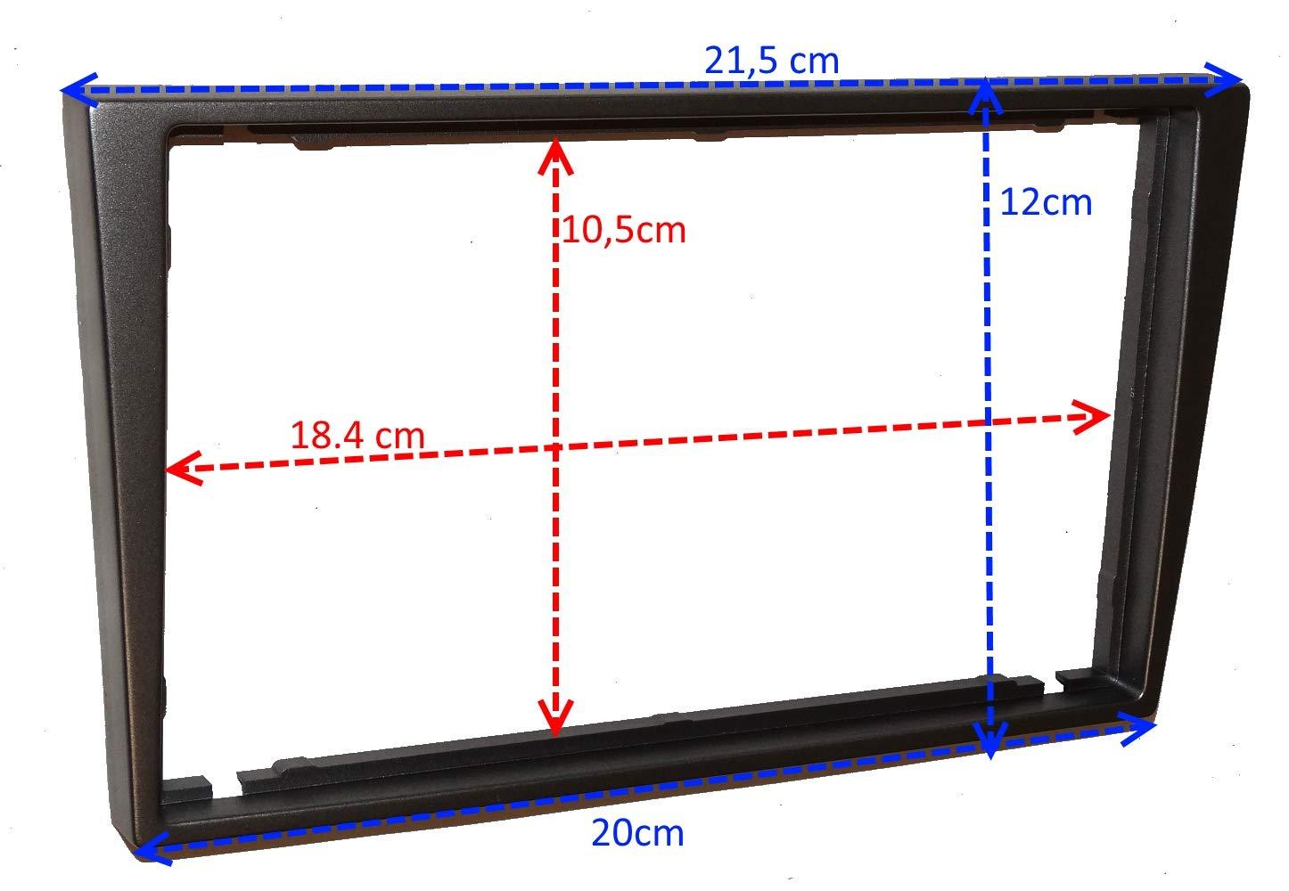 C4579A faisceau et adaptateurs dantenne Argent Aerzetix Fa/çade Kit de Montage dAutoradio Standard 2DIN