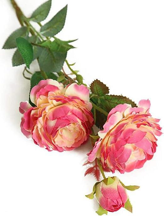 3-Heads Artificial Fake Lotus Silk Flower Floral Hydrangea Wedding Garden Decor