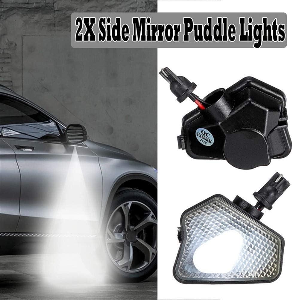 Color : Black LIUWEI 2pcs Espejo retrovisor de Coche 9LED de la se/ñal de Vuelta del indicador Charco Luces de Mercedes-Benz CLS CLA GLK GLA W176 W242 C219 X156 X204 X25