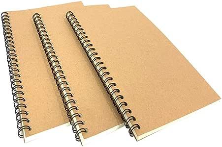 3 unidades A5 vintage tapa en espiral oficial cuaderno
