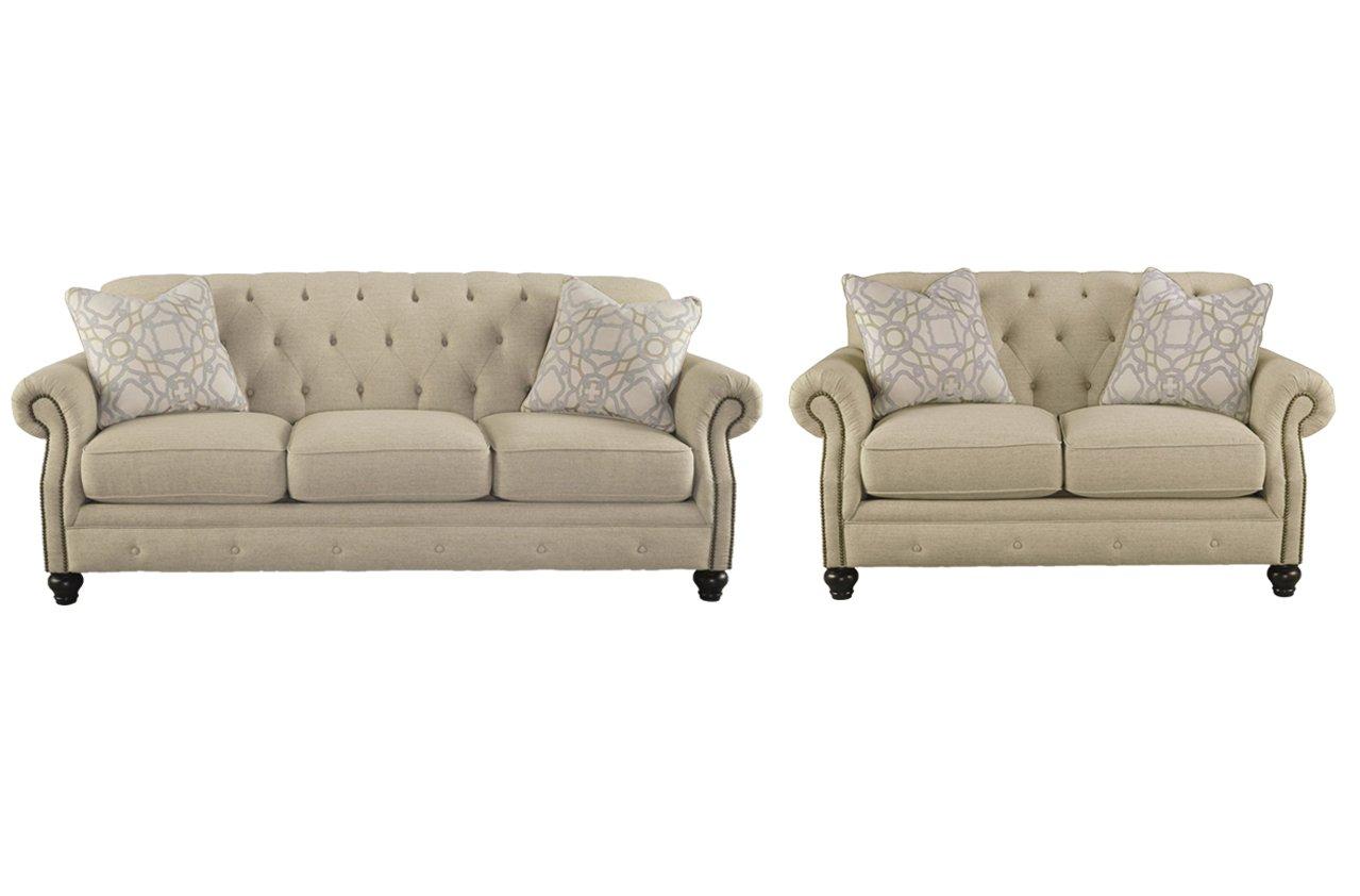 Amazon.com: Signature Design by Ashley Kieran Living Room Set with ...