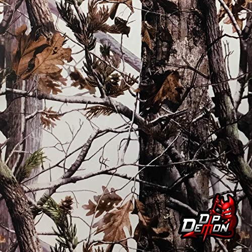 Hydrographic Film Woods in Winter Snow White Camouflage Camo Hunting Hydro Graphic Water Transfer Film Hydro Dipping Dip Demon