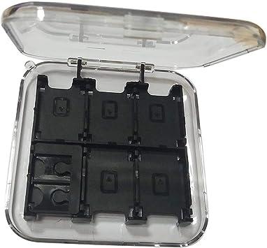MXECO Estuche de Tarjetas de Juego Moko Duradero de diseño Exquisito para Nintend Switch PC Hard Shell Box con 12 Cartuchos de Juego: Amazon.es: Electrónica