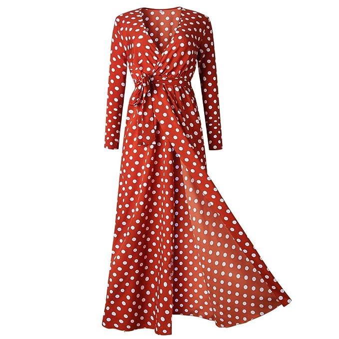317ba6e174 Women s Polka Dot Print Long Dress