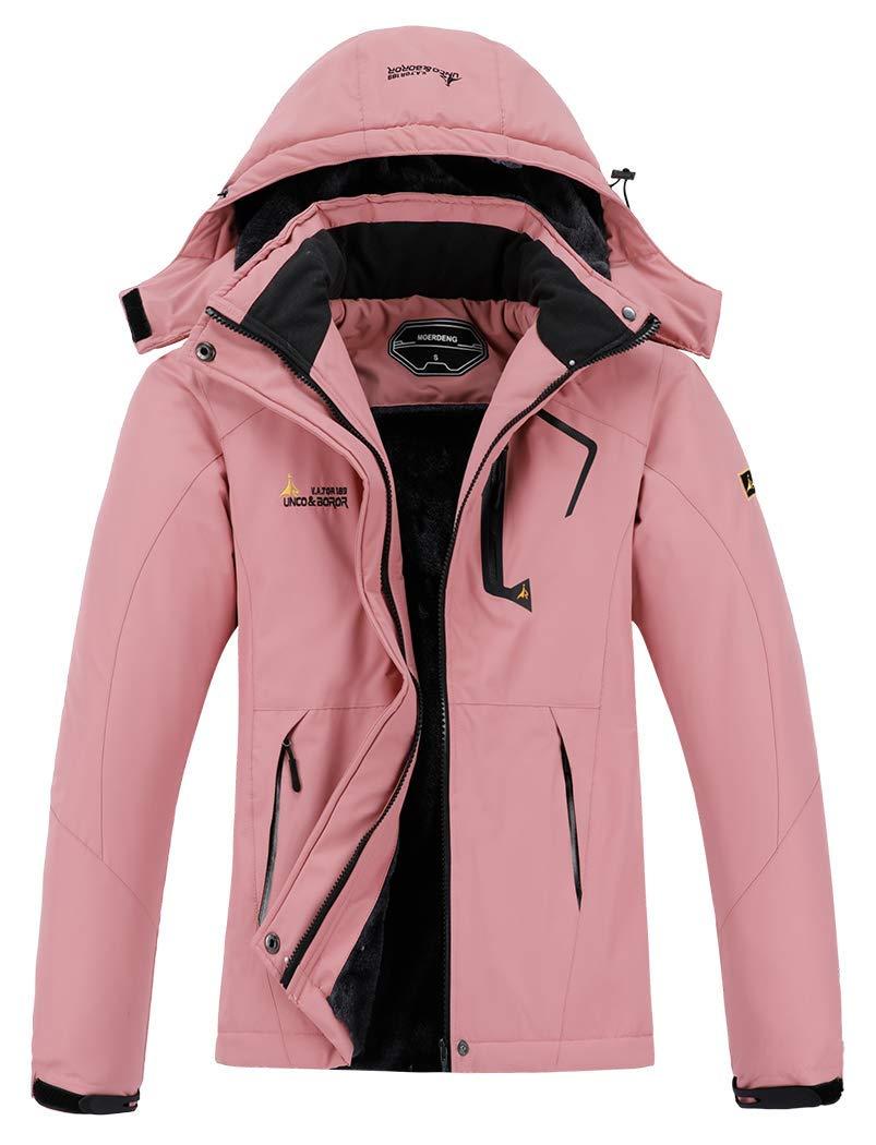 MOERDENG Women's Waterproof Ski Jacket Warm Winter Snow Coat Mountain Windbreaker Hooded Raincoat by MOERDENG