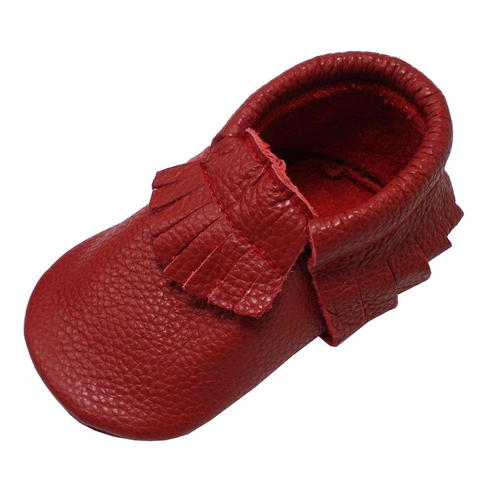 6b36b341a68ba Mejale Baby Soft Soled Leather Moccasin Tassel Slip on Infant Toddler Shoes  Pre-Walker