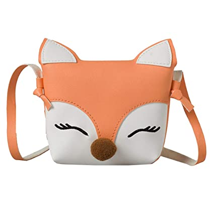 47c1e82b7861 BSGSH Kids Shoulder Bag Crossbody Purse Mini Cartoon Fox Animal Messenger  Handbag for Children Toddler Baby Girls (Orange)