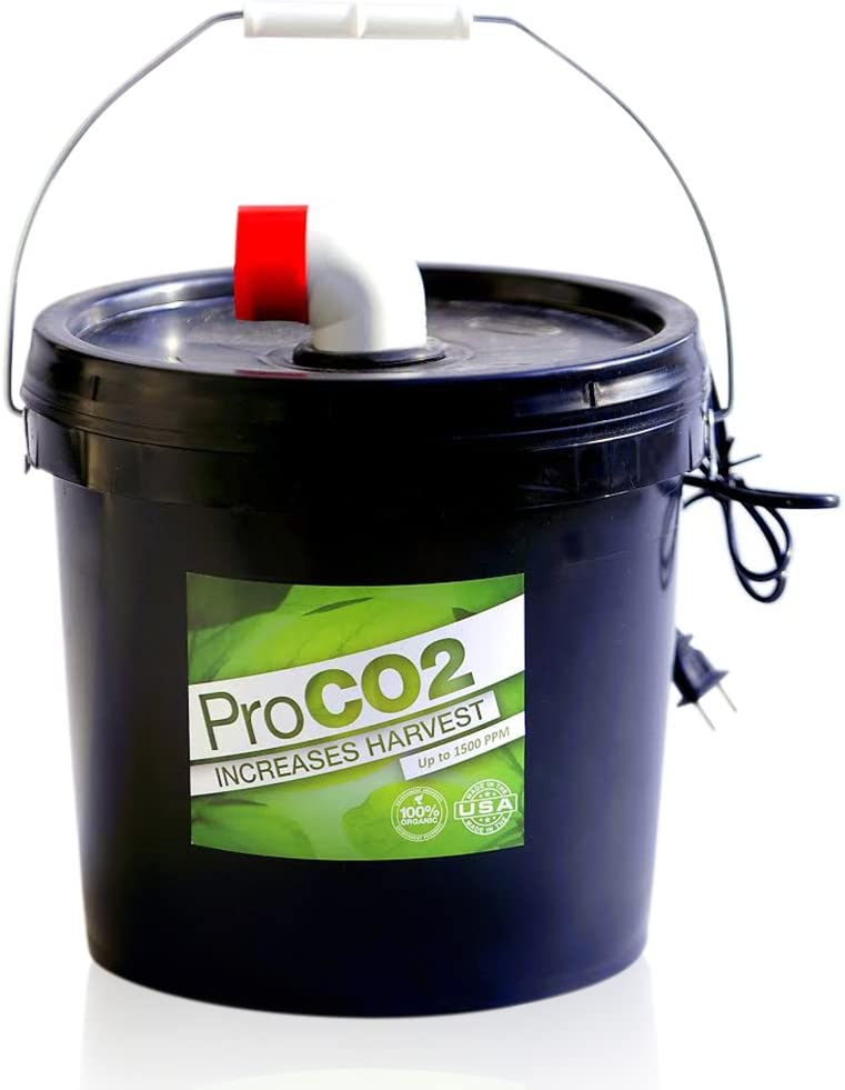 ProCO2 Air-Forced Bucket w/Handle for 8' x 8' Area - Natural Releasing Carbon Dioxide Boost