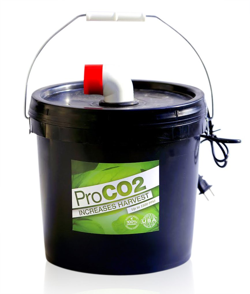 Air-Forced Pro Co2 Bucket w/ Handle for 8' x 8' Area - Natural Releasing Carbon Dioxide Boost by PRO CO2