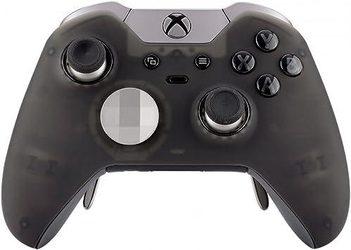 eXtremeRate Carcasa Transparente con 2 Anillos de Acento para Mando Xbox One Protectora Placa Frontal Kit de reemplazo Cubierta Shell Funda para Controlador de Xbox One Elite-Modelo 1698(Negro): Amazon.es: Electrónica