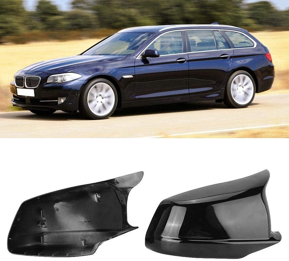 EBTOOLS Alloggiamento specchietto retrovisore auto 2 pezzi specchietto retrovisore specchietto retrovisore nero brillante adatto per 5 serie F10//F11//F18 11-13