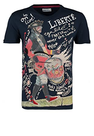 93a16f94485e9a Herren NAPOLEON T-Shirt print marino