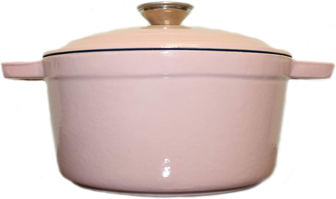 Berghoff Neo 8qt Cast Iron Oval Covered Casserole Dish Pink Kitchen Dining