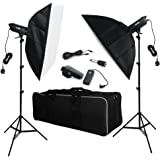 BPS 1200W(600W x 2) Professional Photography Studio Strobe Flash Lighting Bowens Mount Portable 1200W Strobe Flash with Cooling Fan System,70 x 100cm Softbox Soft Boxes,Wireless Trigger,150W Modeling Lamp for Photo Studio, Portrait Photography ,Studio and Video Shoots