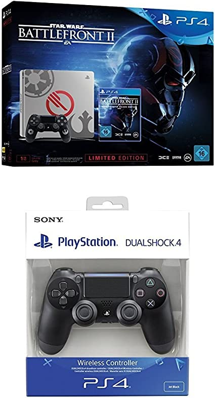 PlayStation 4 (PS4) - Consola 1 TB + Star Wars Battlefront - Edición Especial + Dualshock 4 V2 Mando Inalámbrico, Color Negro V2 (PS4): Amazon.es: Videojuegos