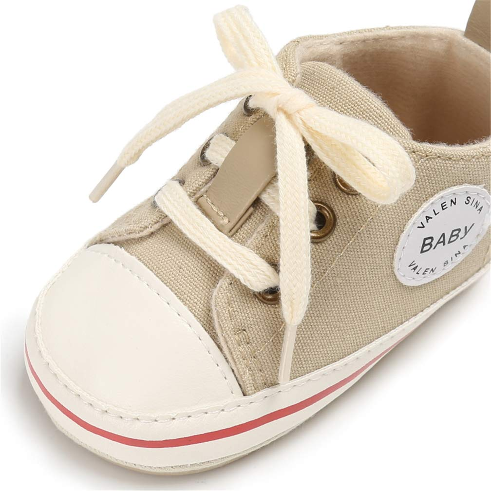 AUPUMI Unisex Baby Girls Boys Shoes Canvas Classic Sports Sneaker Toddler Baby Flat High Top Shoes Outdoor Basic Sneakers