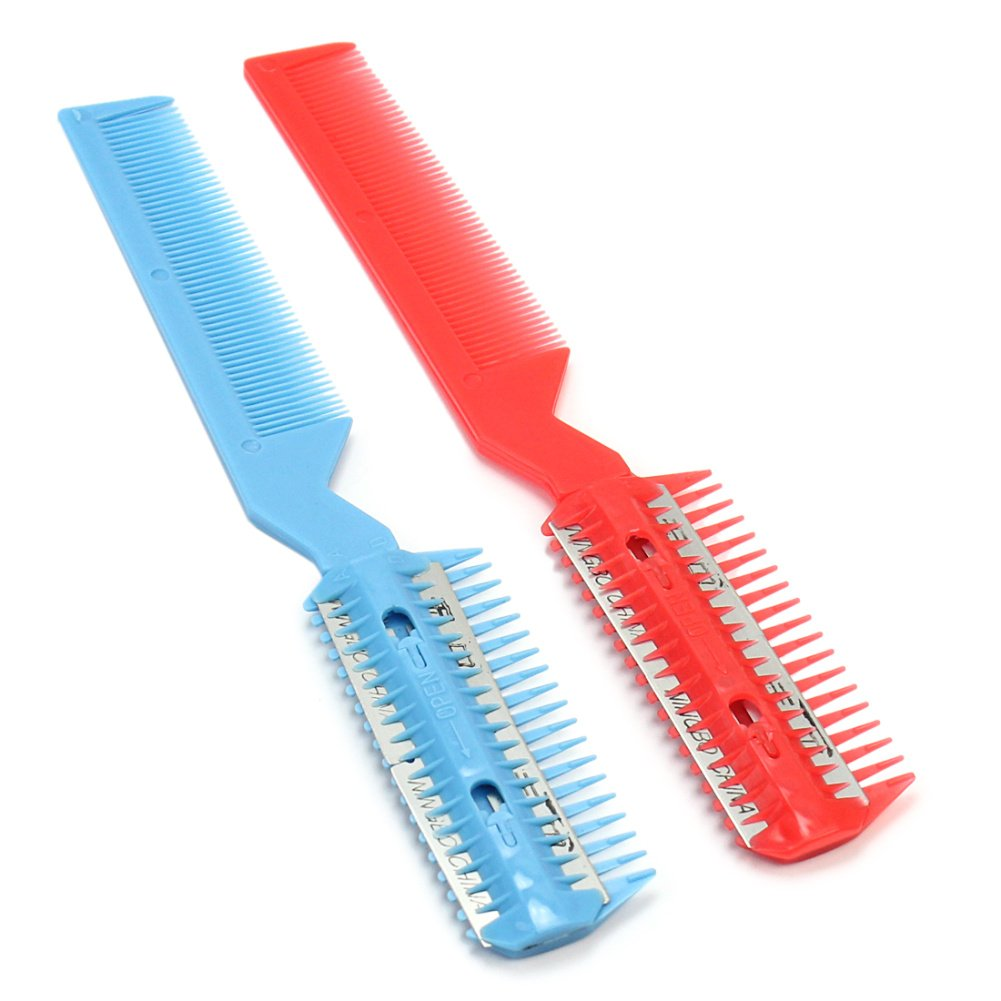 ReFaXi® 2x DIY Professional Scissor Hair Razor Comb Hairdressing Thinning Trimmer