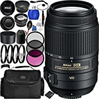 Nikon AF-S DX NIKKOR 55-300mm f/4.5-5.6G ED VR Lens Bundle with Manufacturer Accessories & Accessory Kit (19 Items)