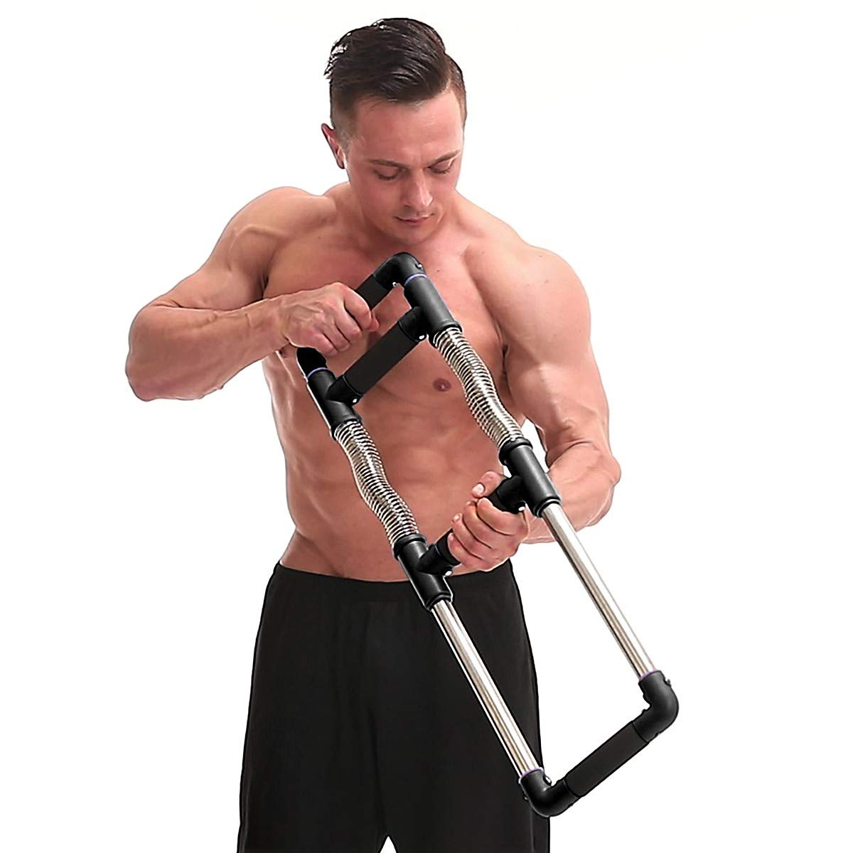 GoFitness Super Push Down Bar - Total Upper Body Workout Equipment, Press Down Machine - Chest Workout, Strength Training, Home Fitness by GoFitness (Image #7)