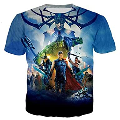 9158f9993c72 PAPWOO Justice League Shirt Justice League Movie Avenger Marvel Guardians  of Galaxy Superhero 3D T-