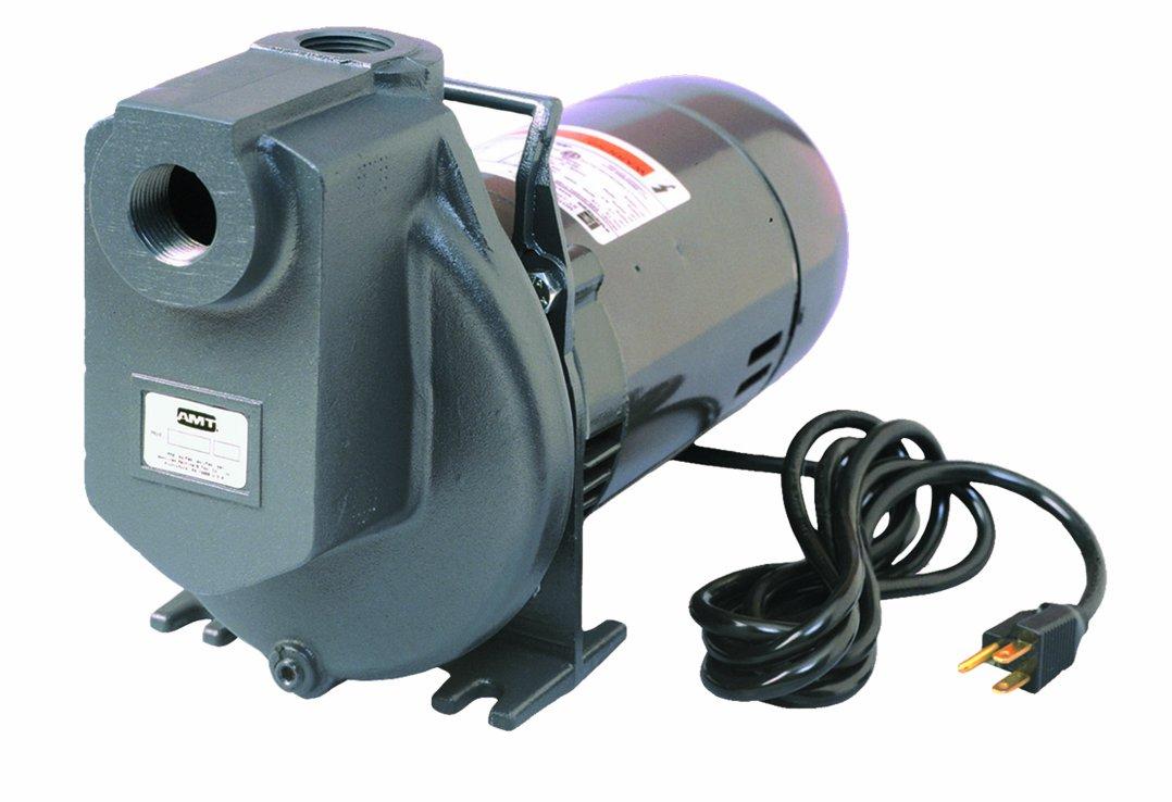 AMT Pump 4292-96 Self-Priming Utility Pump, Aluminum, 1/2 HP, 1 Phase, 115V, Curve C, 1'' NPT Female Suction & Discharge Ports