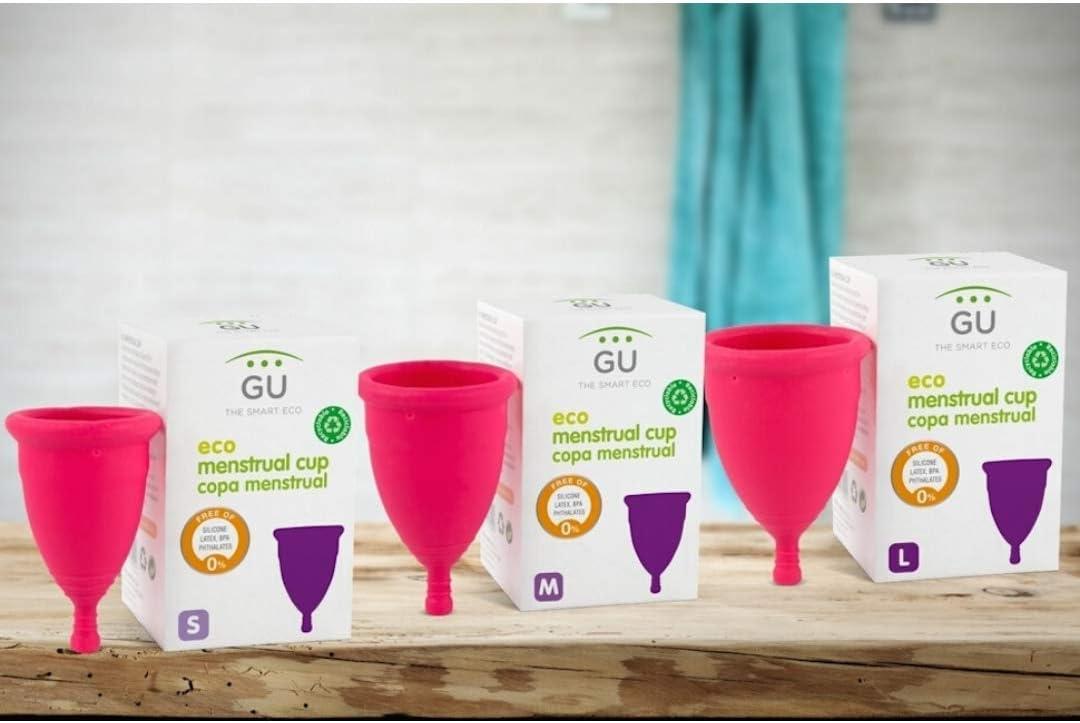 GU Planet - Copa Menstrual Ecológica - Talla M - Sistema Antigoteo Patentado - Sin Siliconas - Copa Íntima 100% Hipoalergénica - Elaborada con TPE de ...