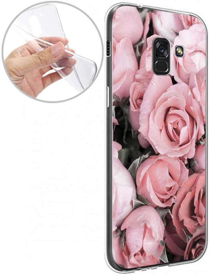 Blumen full Finoo TPU Handyh/ülle f/ür dein Samsung Galaxy A8 Made In Germany H/ülle mit Motiv und Optimalen Schutz Silikon Tasche Case Cover Schutzh/ülle f/ür Dein Samsung Galaxy A8