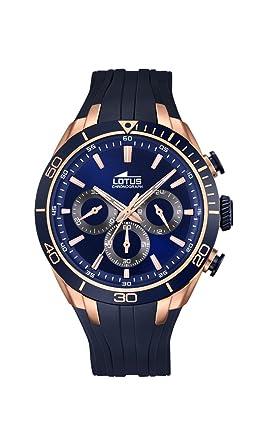 Lotus 18193/1 - Reloj de Pulsera Hombre, Caucho, Color Azul: Amazon.es: Relojes