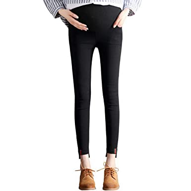 f25f7da5a Foucome Maternity Full Panel Skinny Leg Stretch Knit Ponte Pants for ...