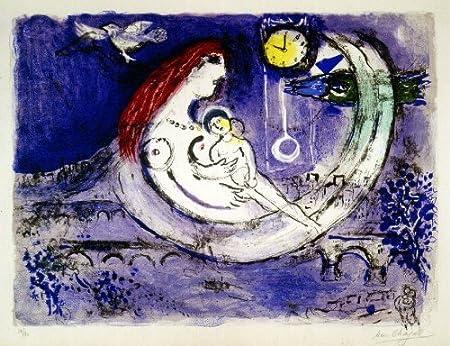 Amazon Com Le Paysage Bleu Blue Landscape Marc Chagall