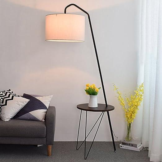 Moderne Stehlampe E27 Schlafzimmer Stoff weiss Wohnzimmer