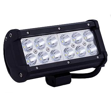 36W Cree LED Bar Combo Beam Strip Curvado trabajo luz tira luces de automoción iluminación luces de vehículos todoterreno: Amazon.es: Deportes y aire libre