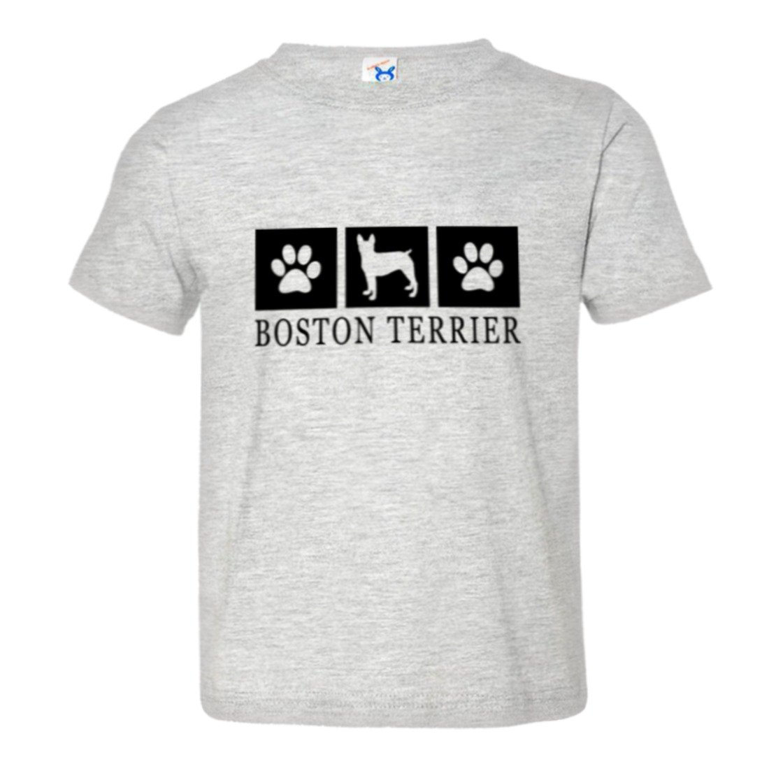 Toddler Boston Terrier Paws I Love My Dog Cat Lover HQ Tee Shirt